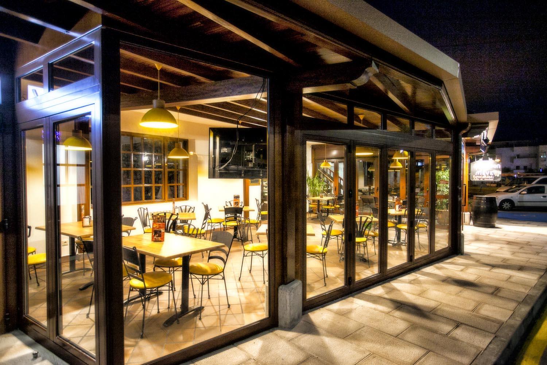 Terraza cerrada del restaurante